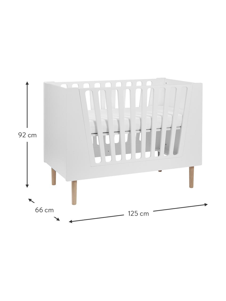 Babybett Sleep Tight, Füße: Holz, Weiß, 125 x 92 cm