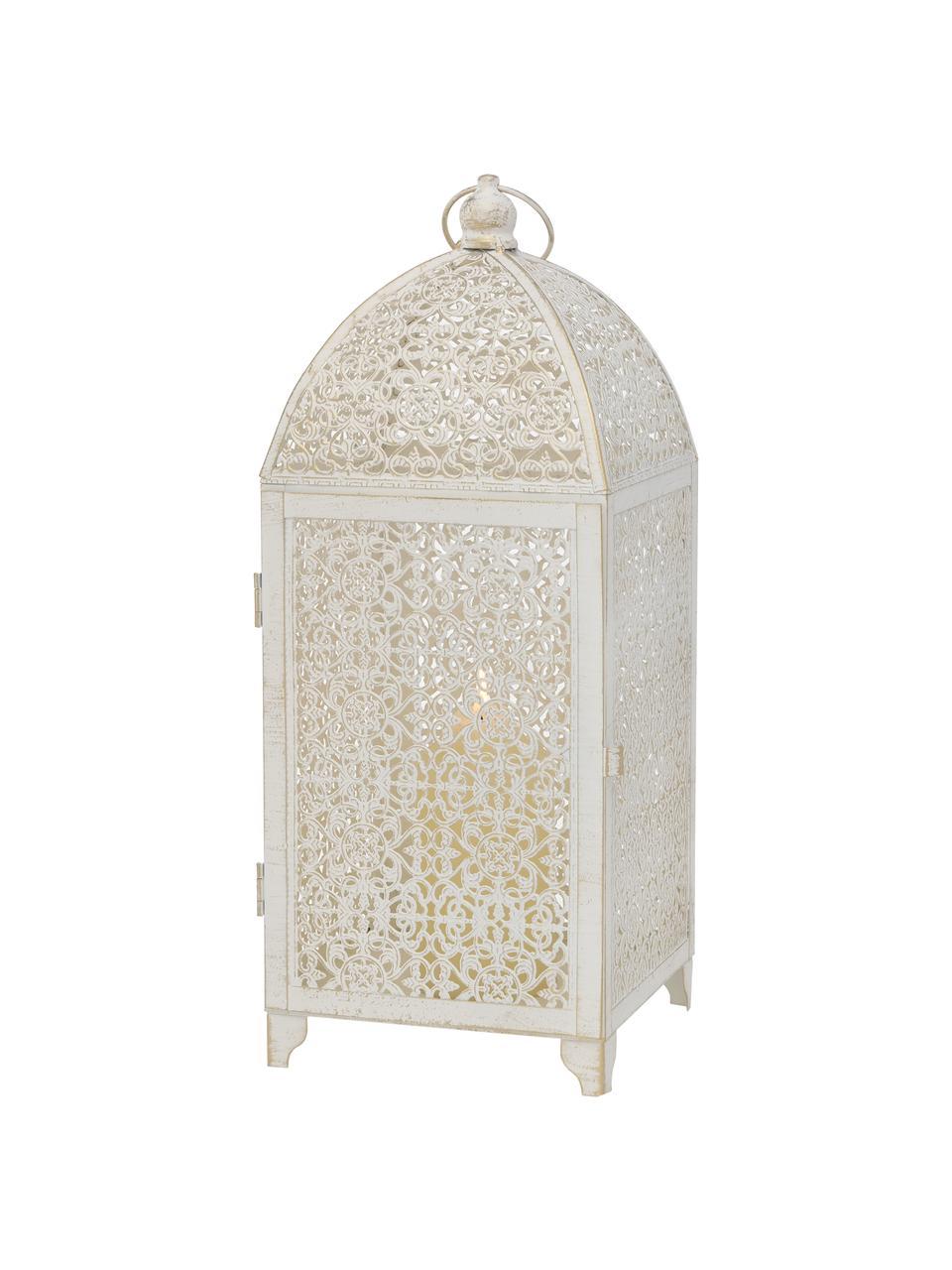 Set 2 lanterne Oleano, Struttura: metallo rivestito, Bianco con finitura antica, Set in varie misure