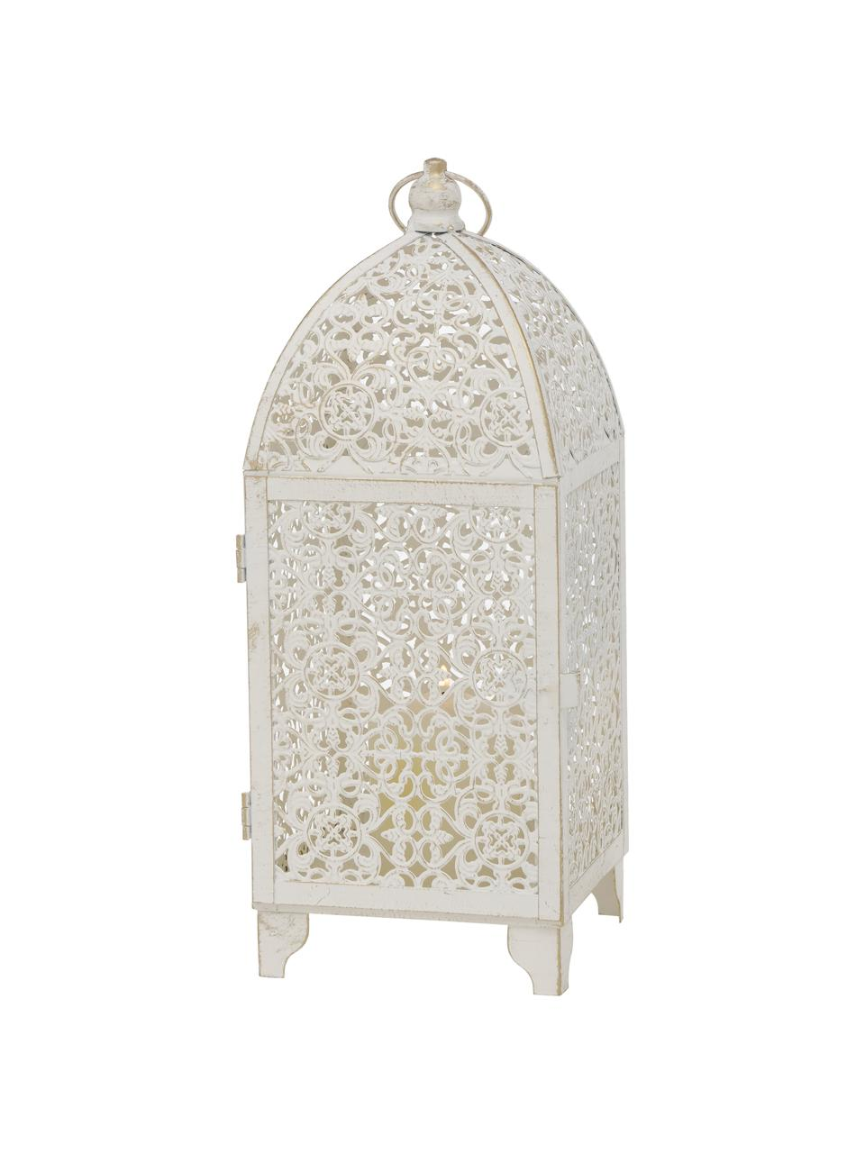 Laternen-Set Oleano, 2-tlg., Gestell: Metall, beschichtet, Weiß mit Antik-Finish, Set mit verschiedenen Größen