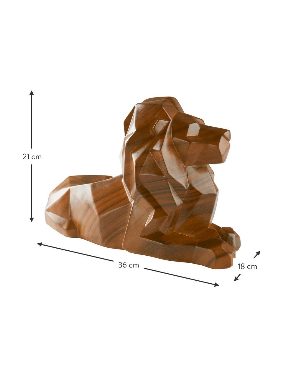 Deko-Objekt Drey, Kunststoff, Braun, 36 x 21 cm