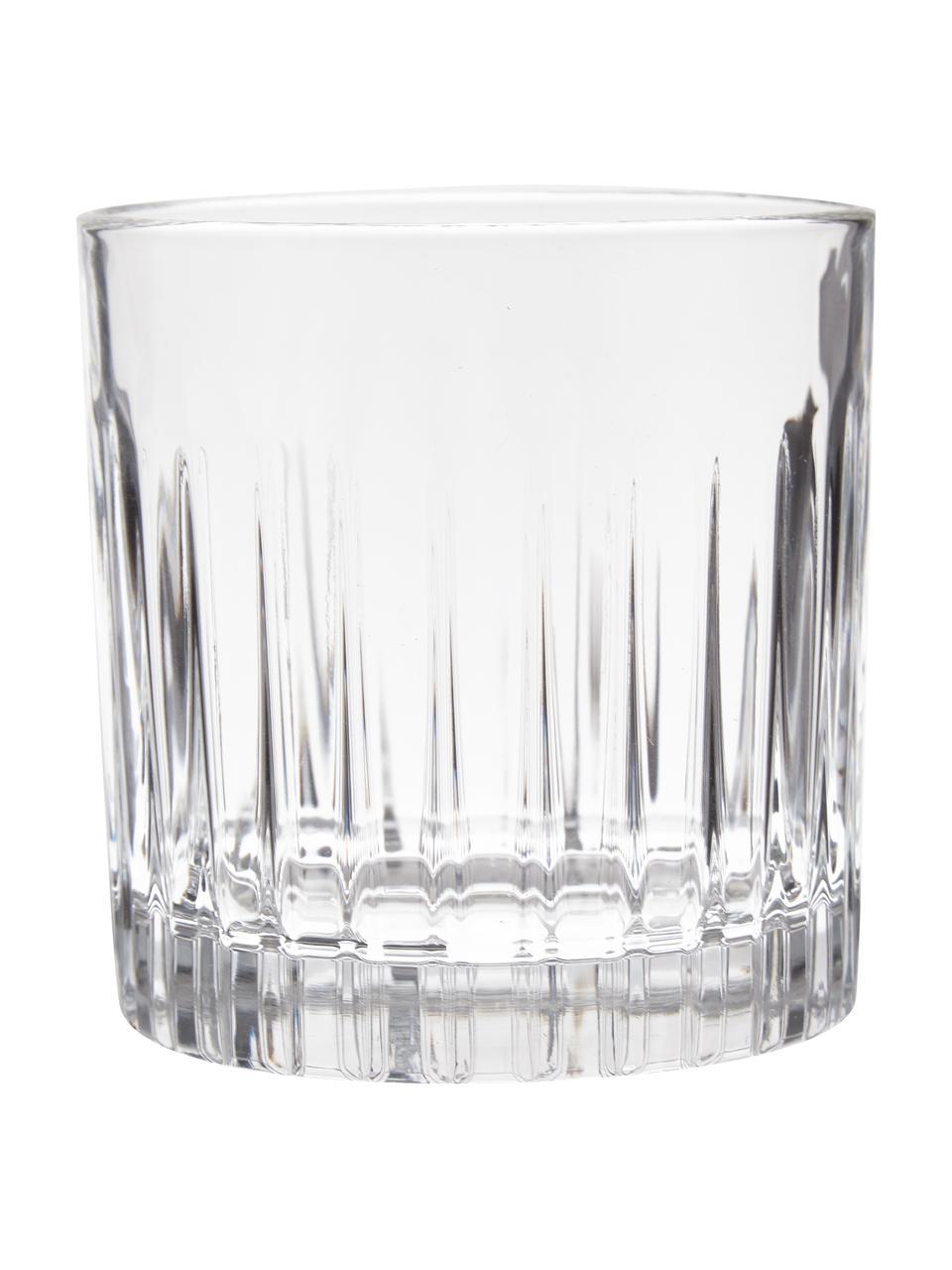 Kristall-Whisky-Set Timeless mit Rillenrelief, 7-tlg., Luxion-Kristallglas, Transparent, Set mit verschiedenen Größen