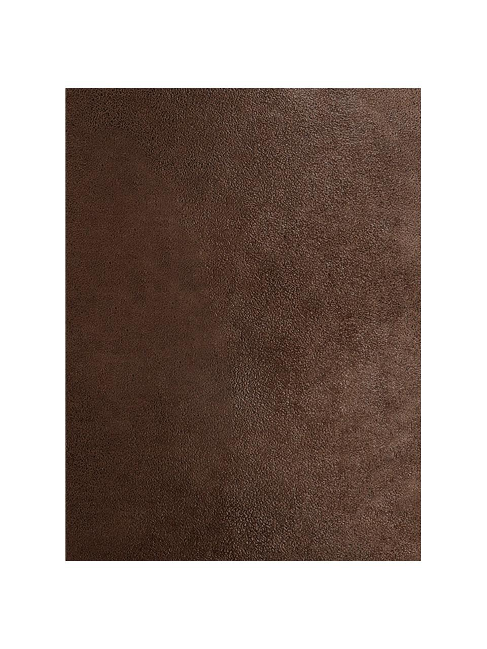Kunstleder-Pouf Cuba, Bezug: Kunstleder (96% Polyester, Braun, Ø 50 x H 30 cm
