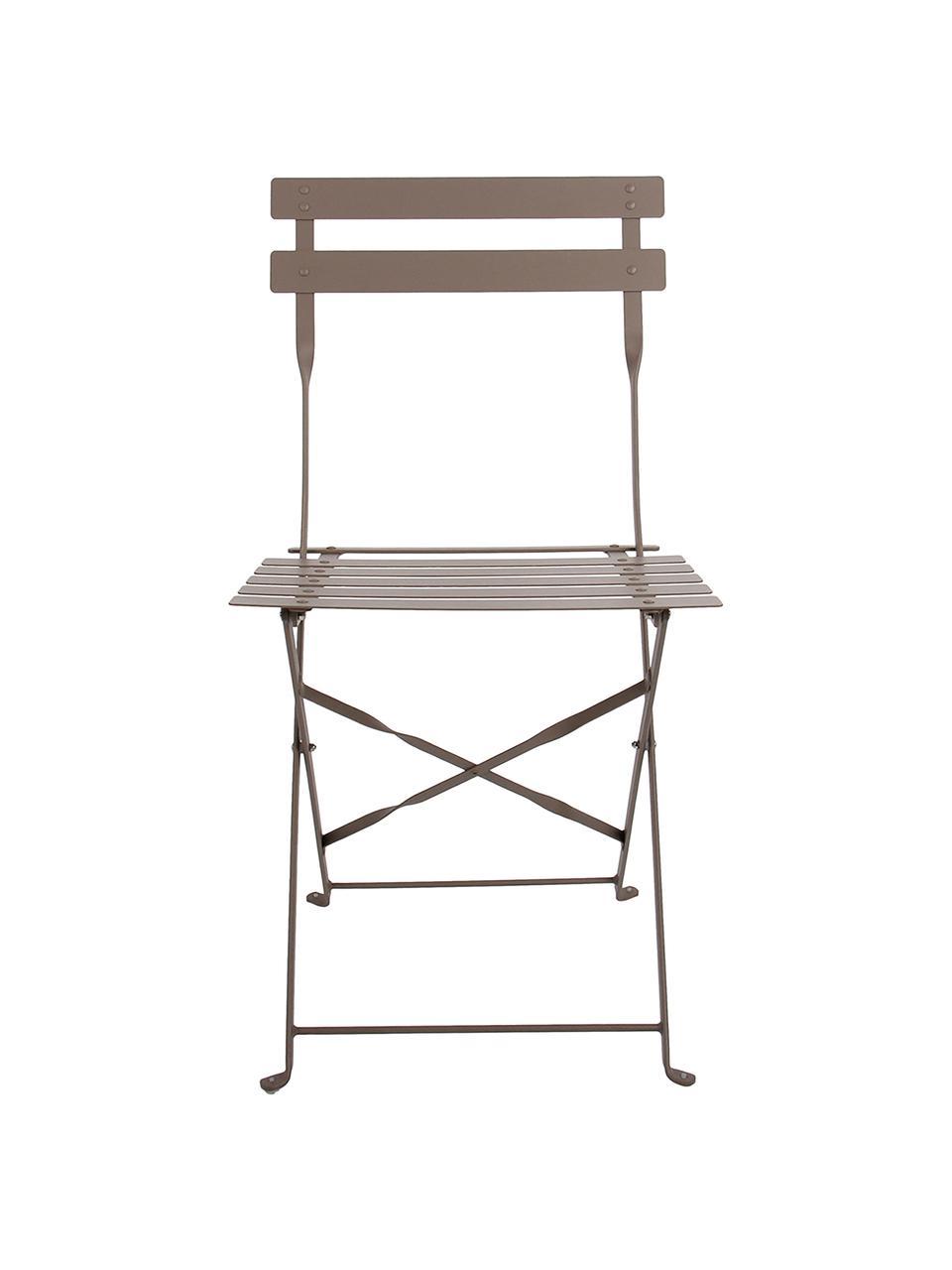 Balkon-Set Chelsea aus Metall, 3-tlg., Metall, pulverbeschichtet, Taupe, Sondergrößen