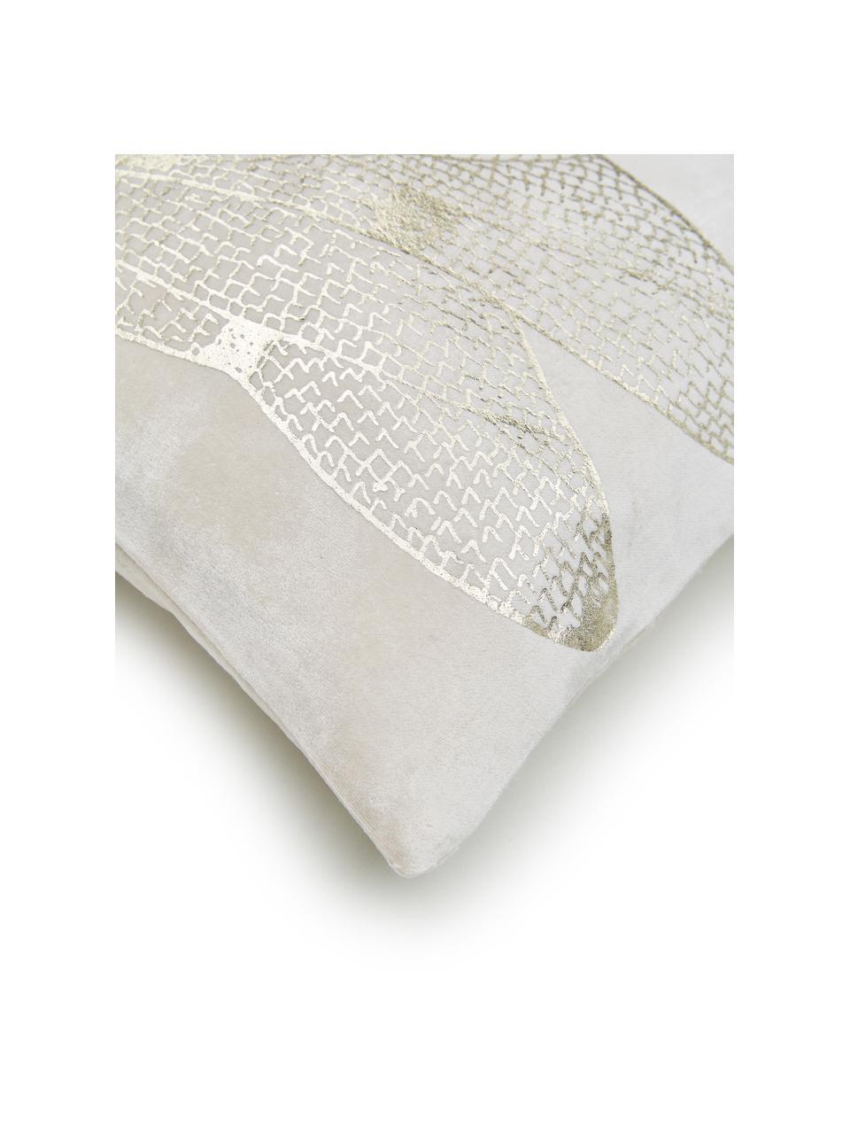 Kissen Dragonfly, mit Inlett, Bezug: 50% Viskose, 50% Baumwoll, Weiß, Goldfarben, 30 x 50 cm