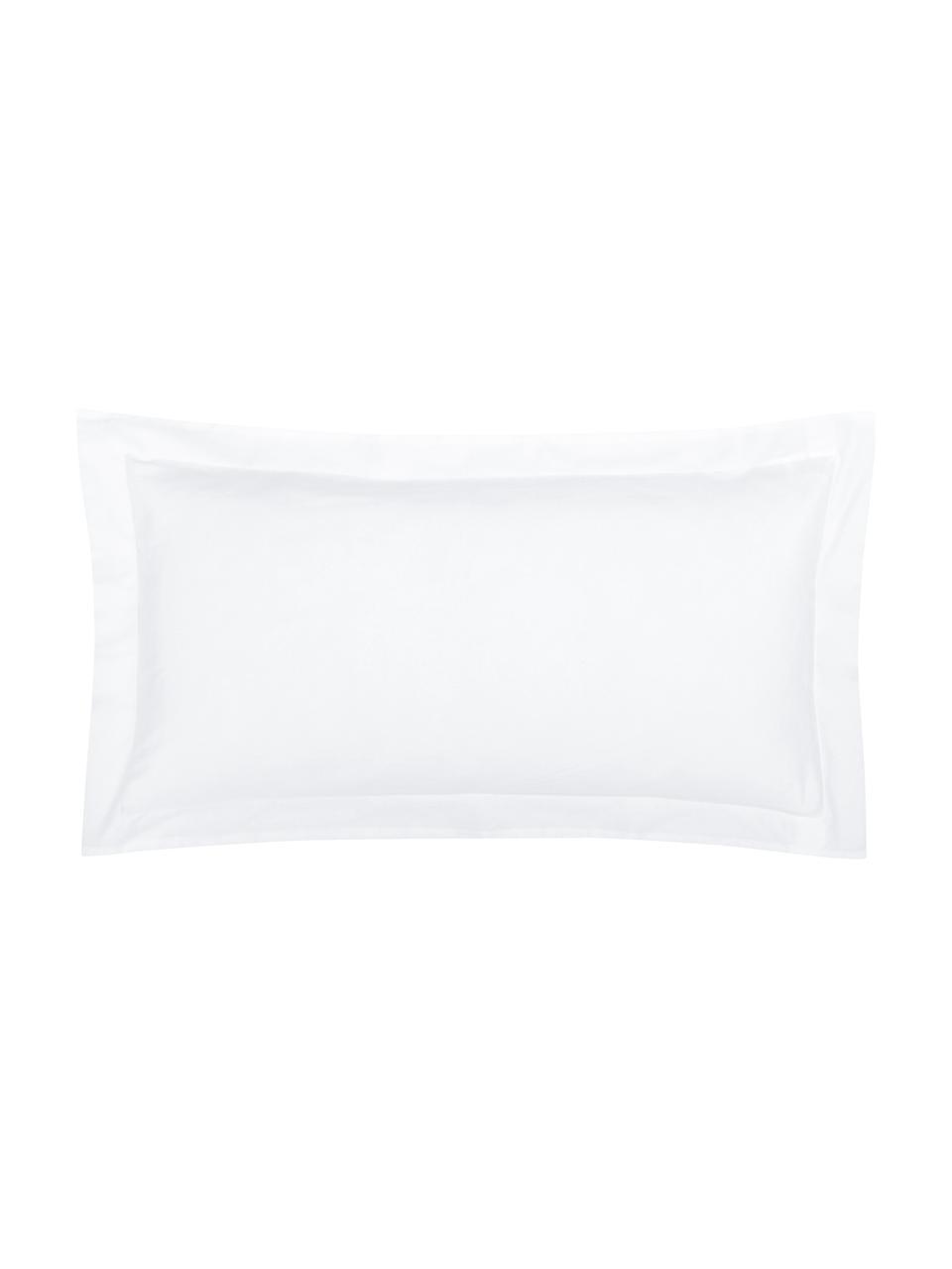 Poszewka na poduszkę z organicznej satyny bawełnianej z lamówką Premium, 2 szt., Biały, S 40 x D 80 cm
