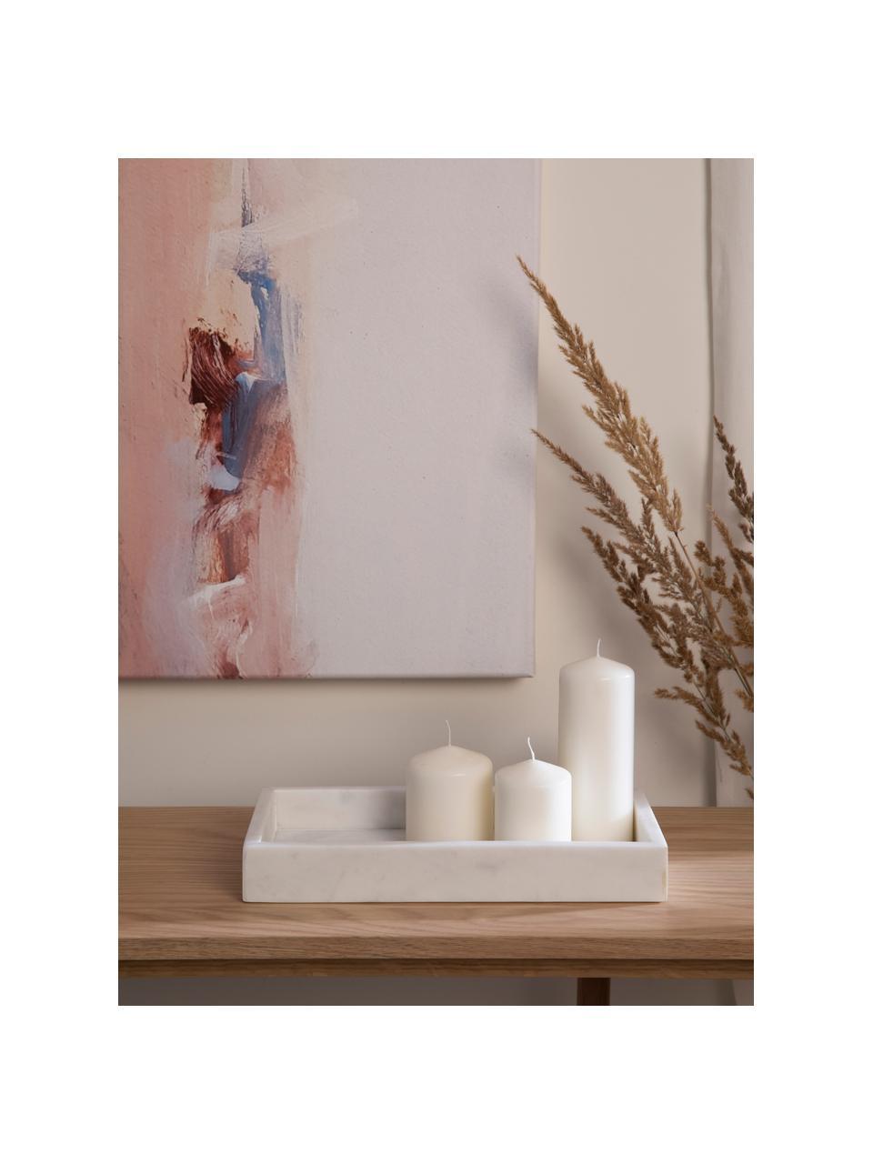 Dekorativní mramorový tác Mera, Bílá, mramorovaná