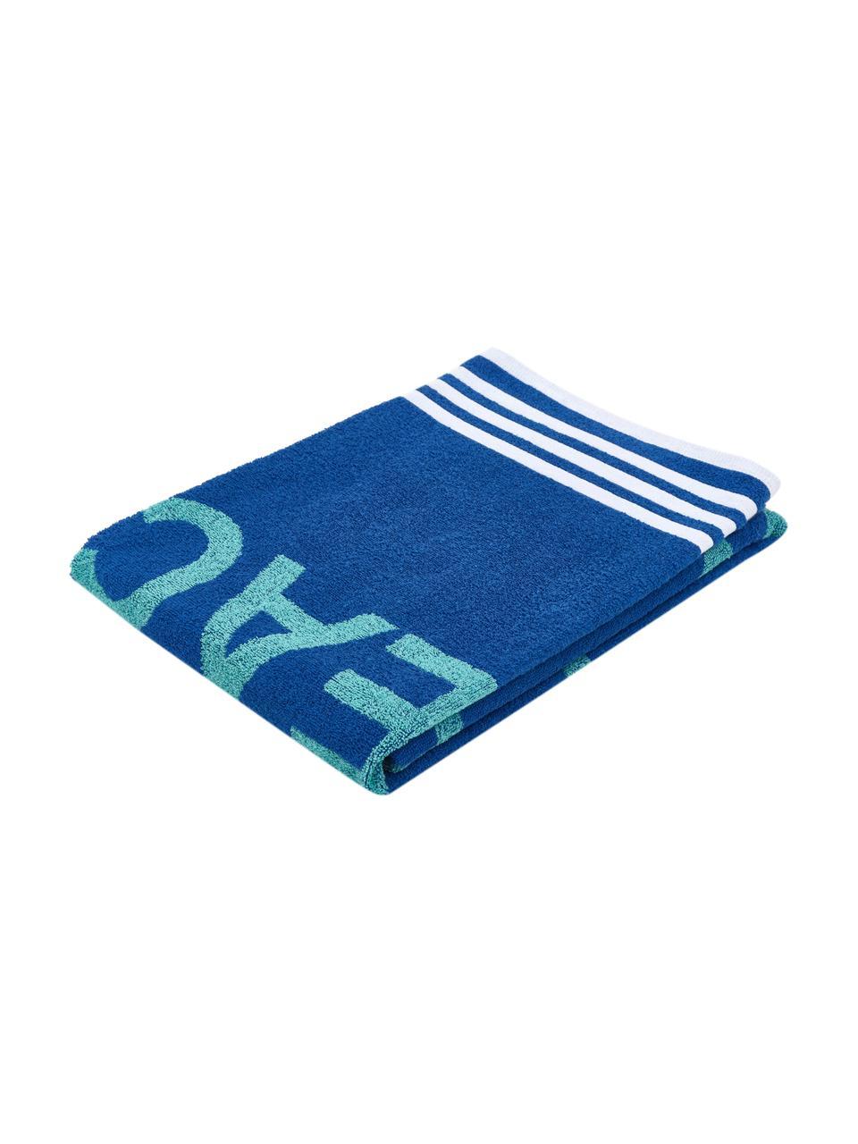 Strandtuch Cool, 100% Baumwolle, Blautöne, 90 x 160 cm