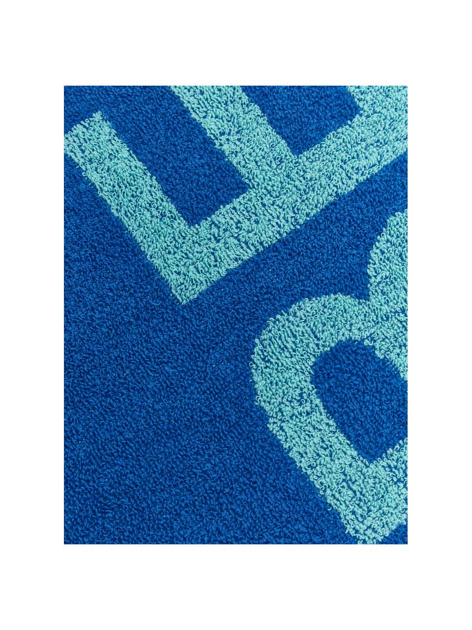 Telo mare Cool, 100% cotone, Tonalità blu, Larg. 90 x Lung. 160 cm