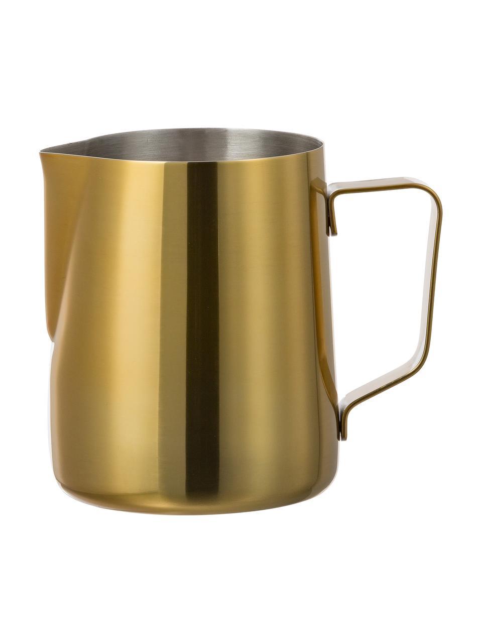 Milchkännchen Curacao aus Edelstahl in Gold, 500 ml, Außen: Edelstahl, beschichtet, Innen: Edelstahl, Goldfarben, Ø 9 x H 11 cm
