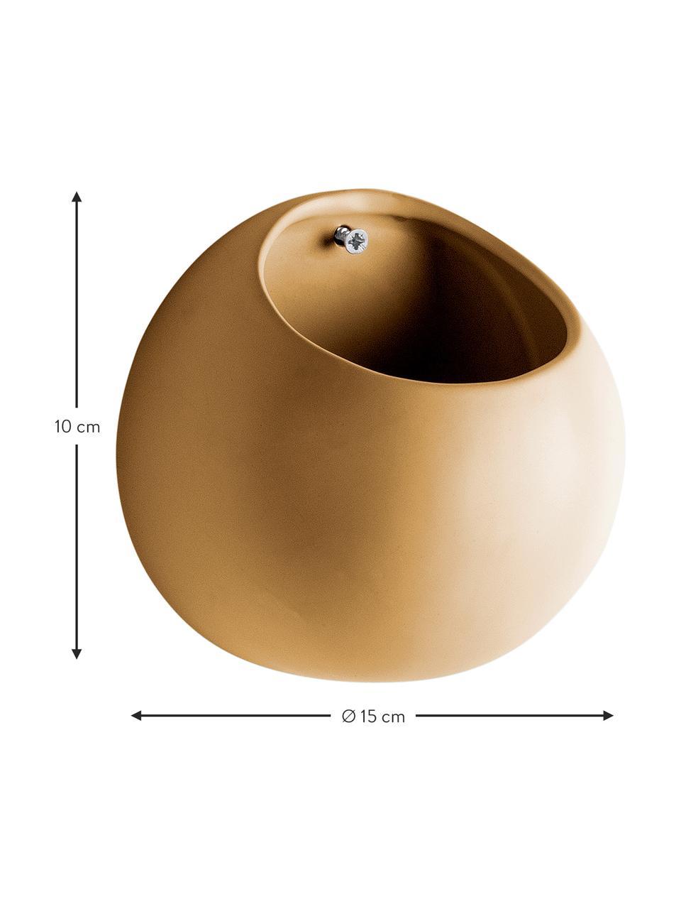 Vaso da parete piccolo in ceramica Globo, Ceramica, Giallo, Ø 15 x Alt. 10 cm