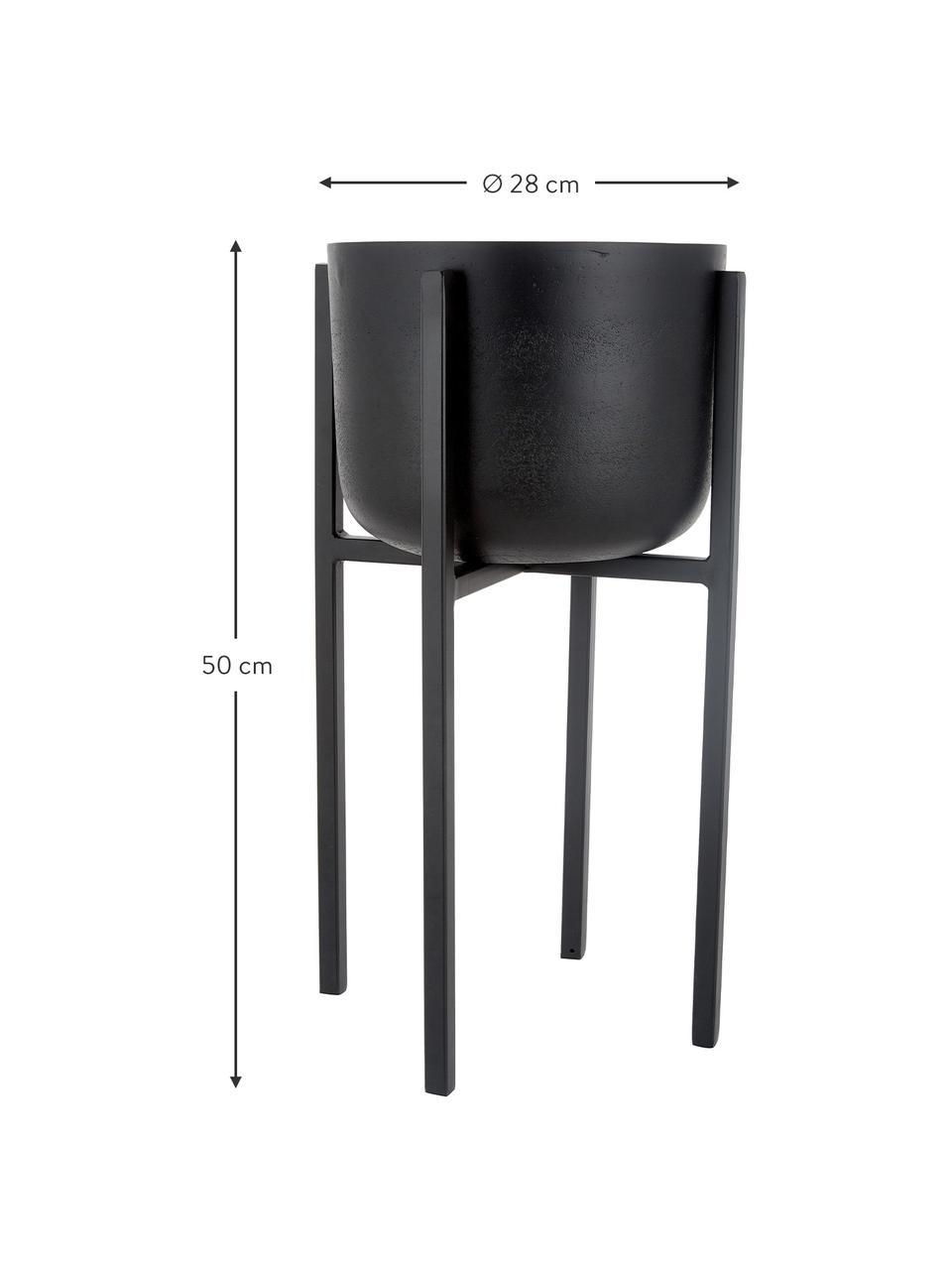 Duża osłonka na doniczkę z metalu Minell, Stelaż: metal powlekany, Czarny, Ø 28 x W 50 cm