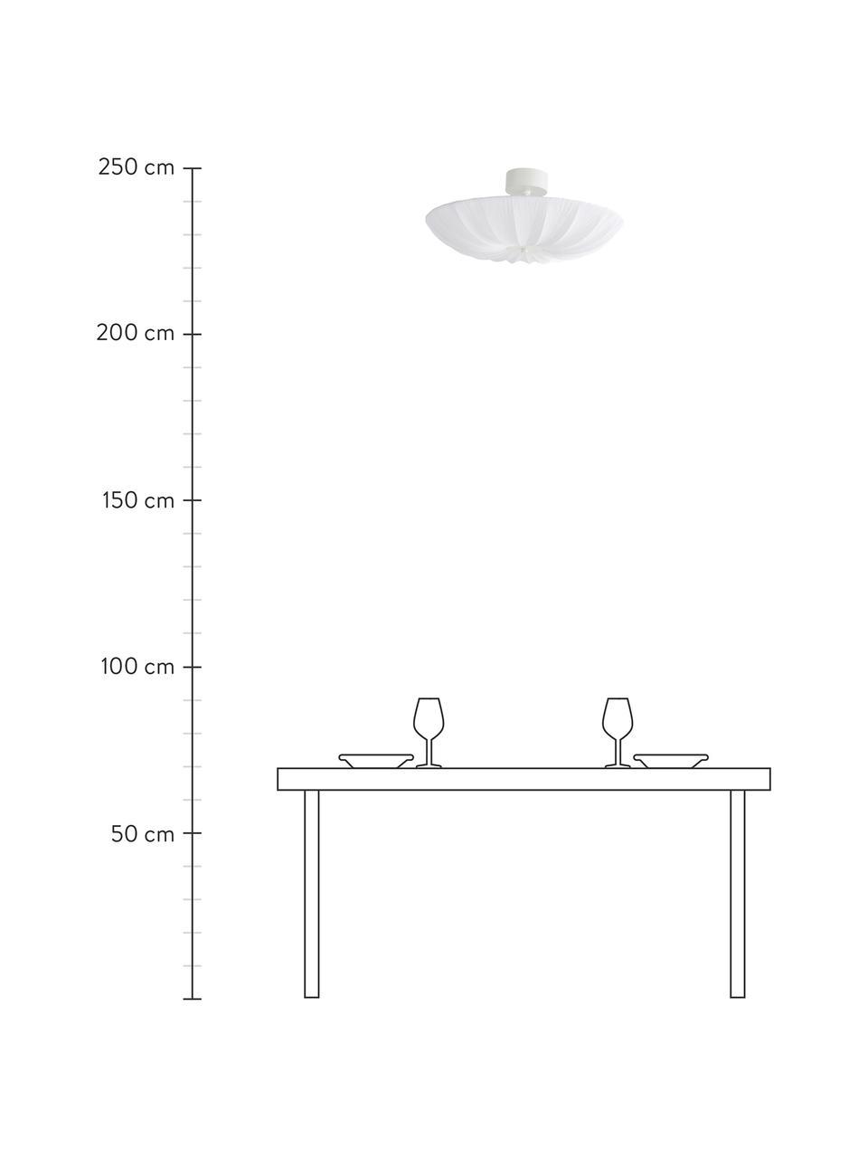Lampa sufitowa w stylu scandi Minnie, Biały, Ø 60 x W 25 cm