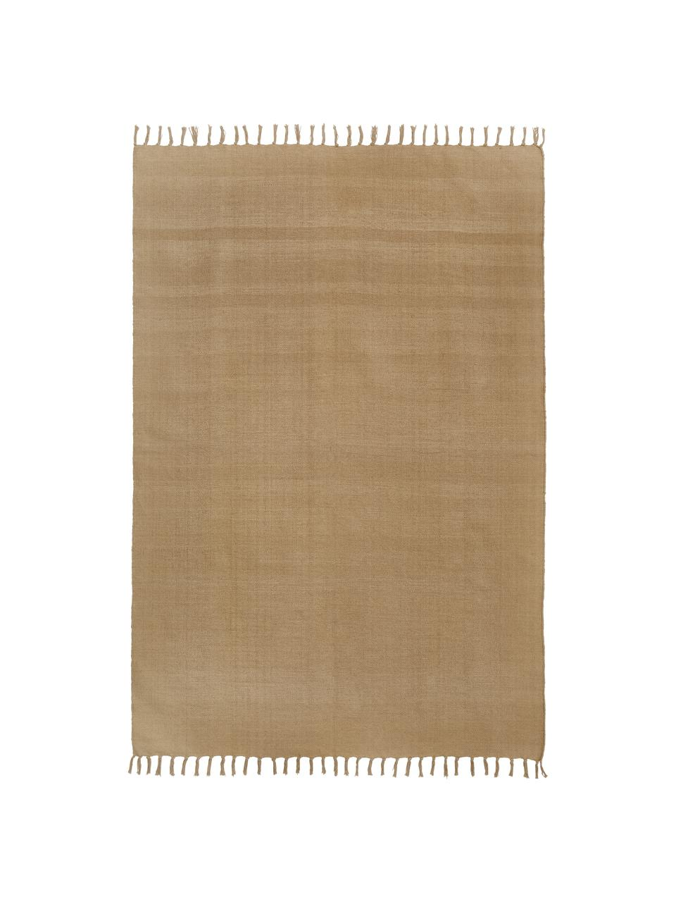 Tappeto in cotone Agneta, 100% cotone, Beige, Larg. 50 x Lung. 80 cm