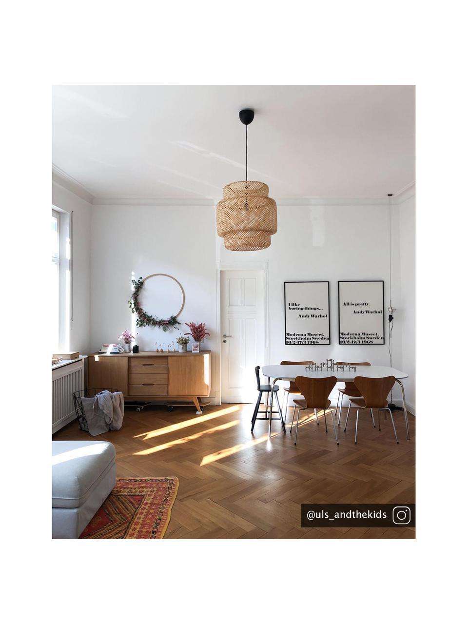Credenza con finitura in quercia e cassetti Bettina, Piedini: legno di quercia massicci, Marrone, Larg. 180 x Alt. 84 cm