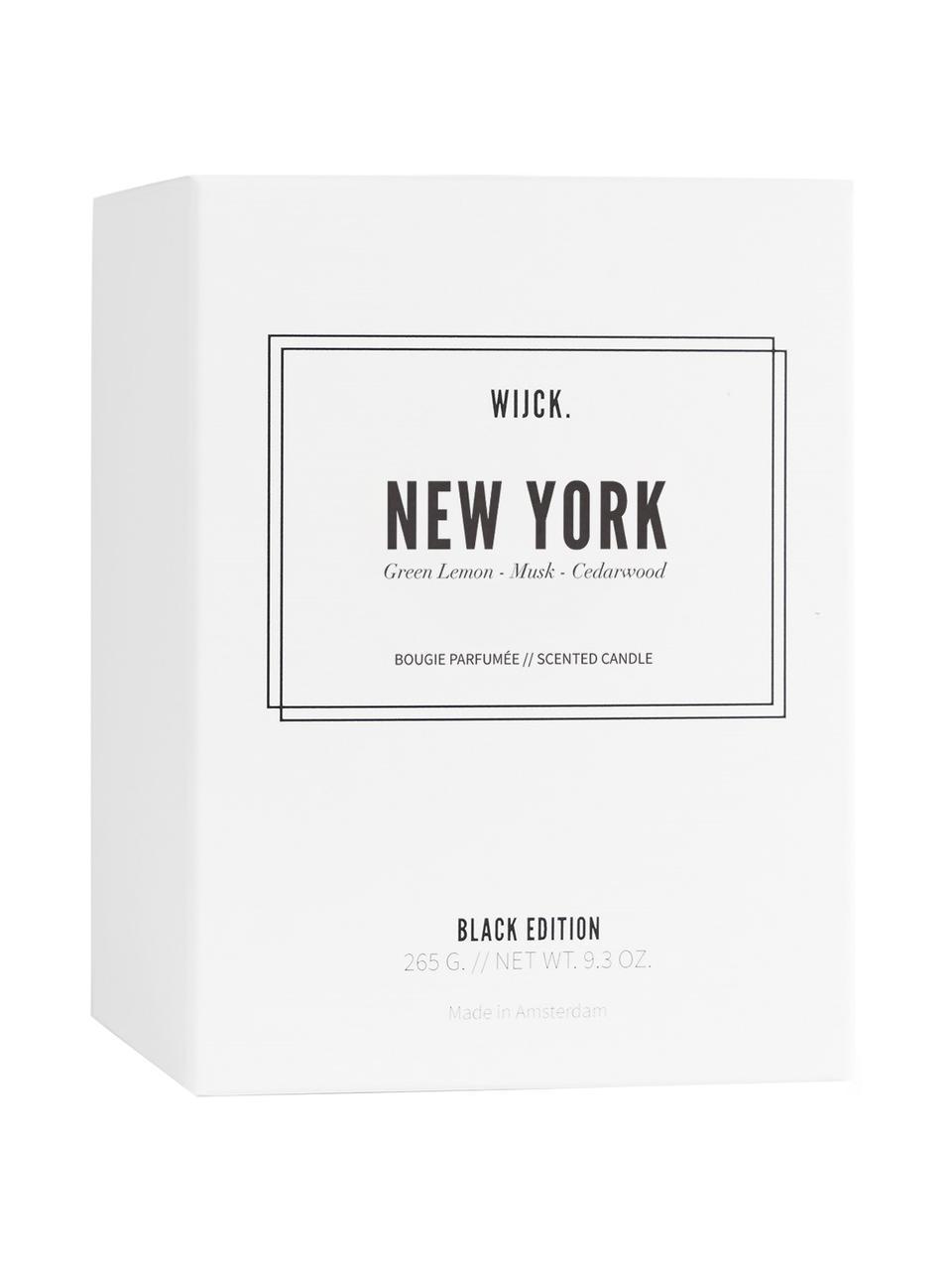 Candela profumata New York (limone verde, rose e legno), Contenitore: vetro soffiato, Limone verde, rose & legno, Ø 8 x A 11 cm