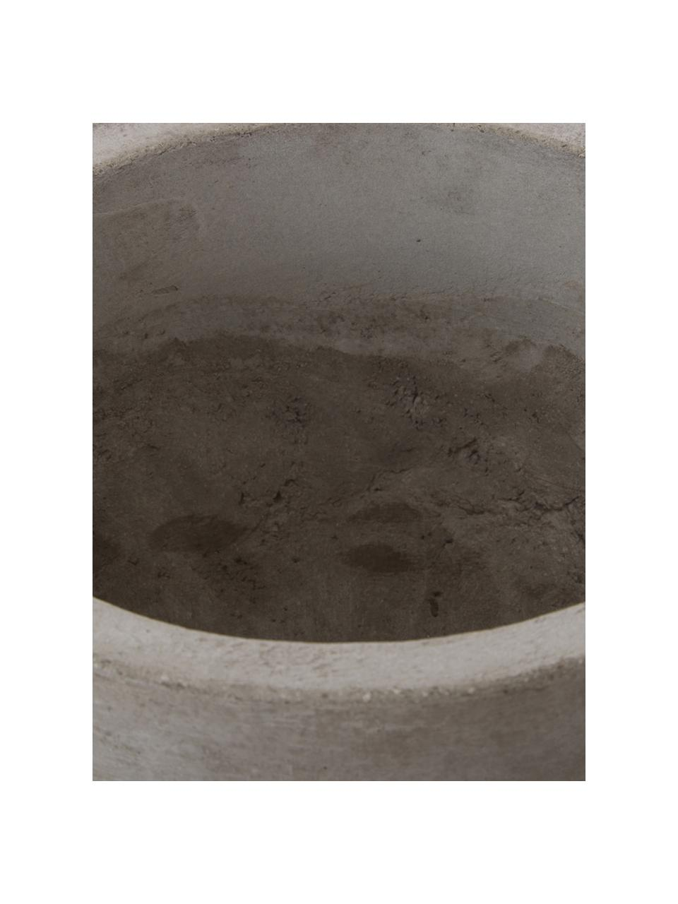 Grote plantenpot Rom van cement, Cement, Grijs, Ø 23 x H 18 cm