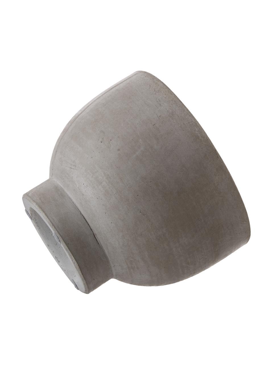 Duża doniczka z cementu Rom, Cement, Szary, Ø 23 x W 18 cm