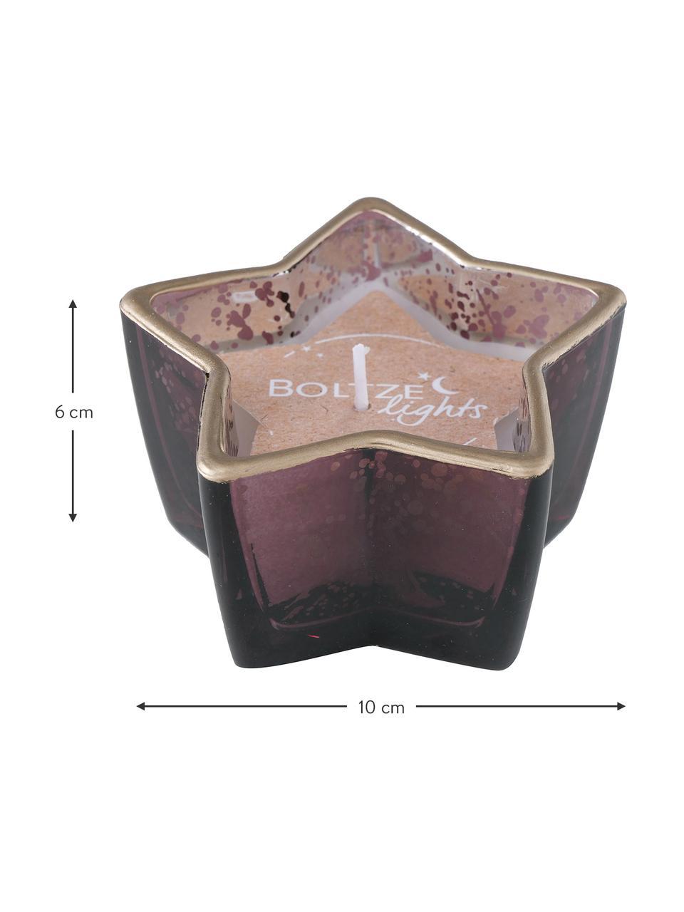 Deko-Kerzen-Set Delisa Ø 10 cm, 3 Stück, Behälter: Glas, Dunkelrosa, 10 x 6 cm