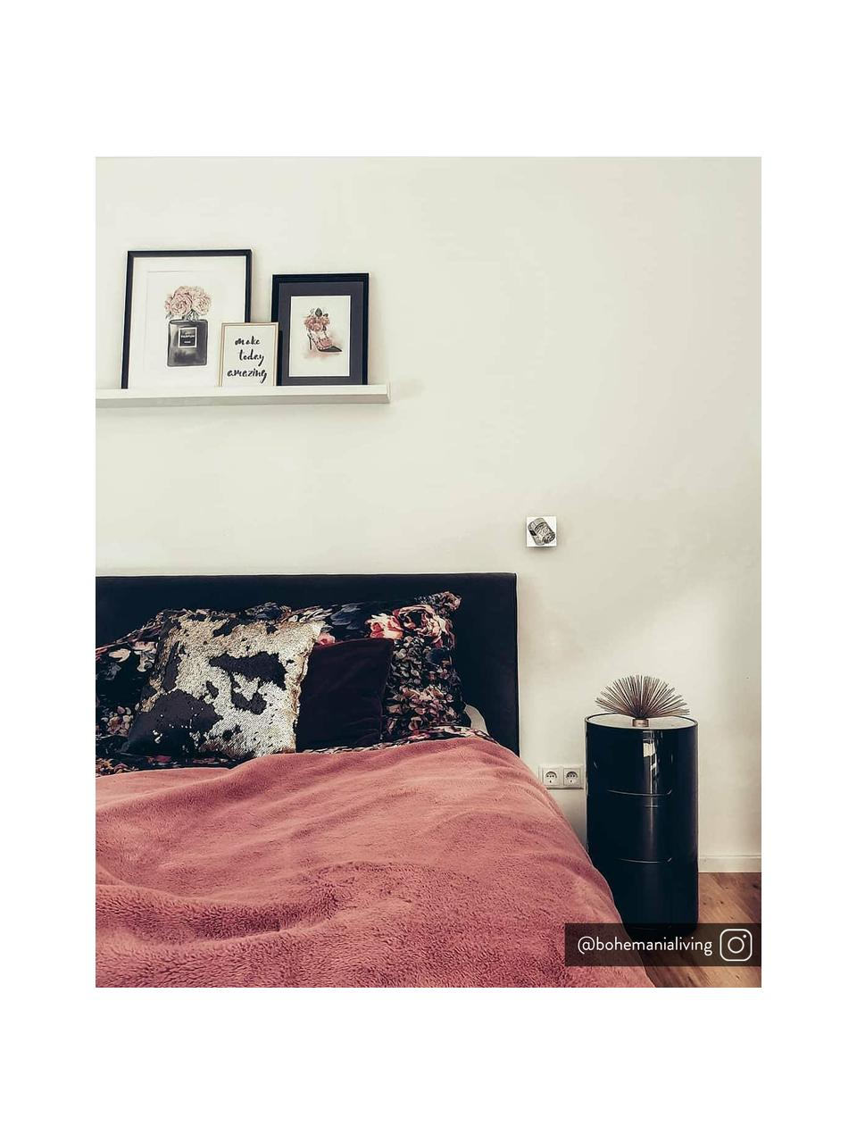 Stolik pomocniczy Componibile, Tworzywo sztuczne (ABS), lakierowane, Czarny, błyszczący, Ø 32 x W 59 cm
