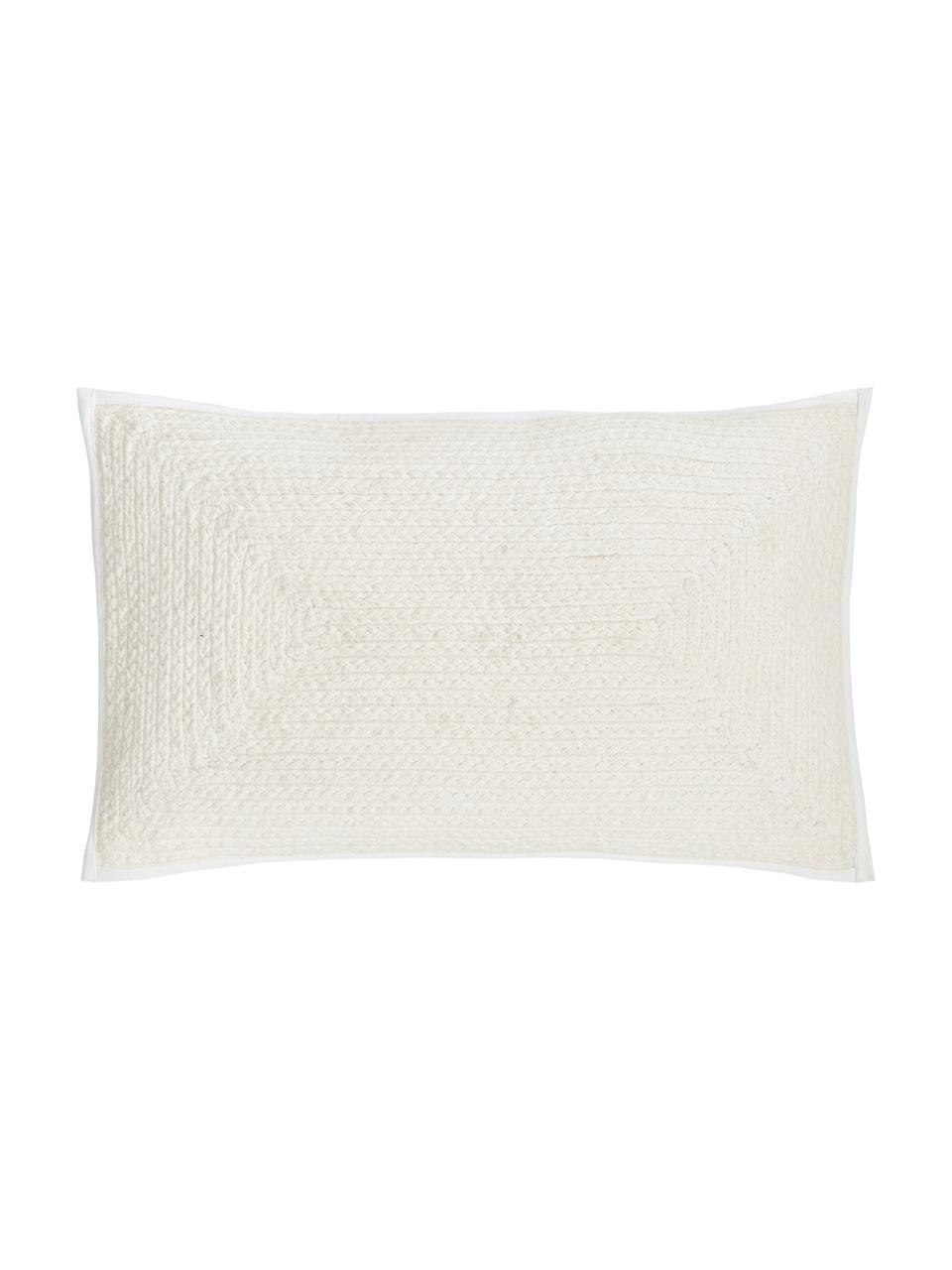 Kissenhülle Justina im Jutelook, 100% Baumwolle, Cremeweiß, 30 x 50 cm