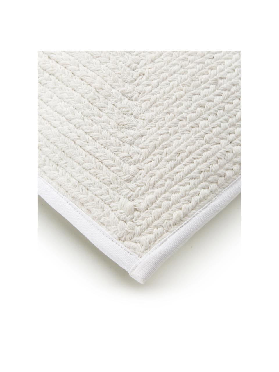 Housse de coussin rectangulaire aspect jute Justina, Blanc crème