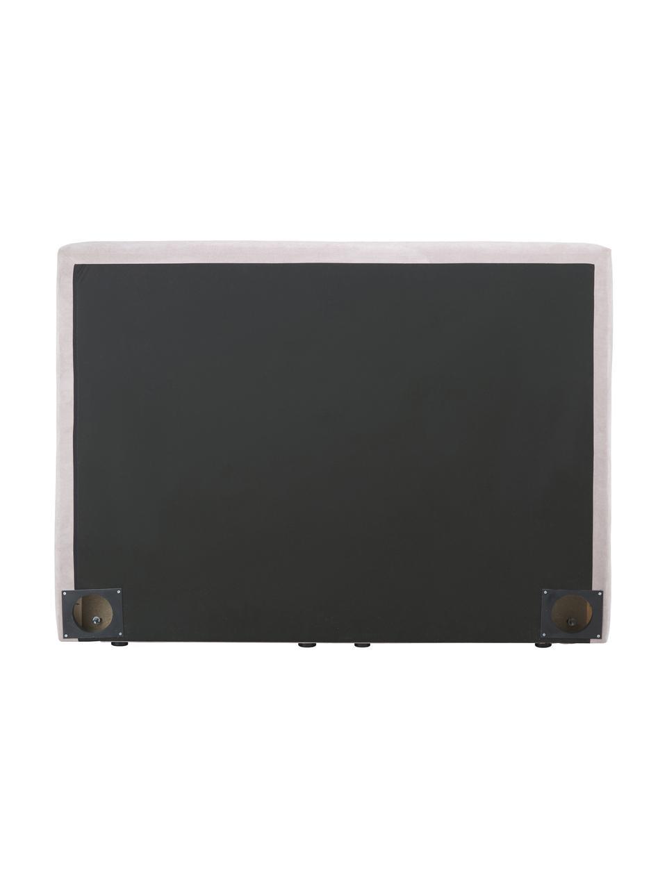 Boxspringbett Oberon in Rosa, Matratze: 5-Zonen-Taschenfederkern, Füße: Kunststoff, Webstoff Rosa, 200 x 200 cm
