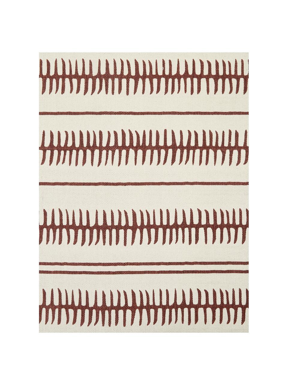 Tappeto in cotone beige/terracotta tessuto a mano Rita, Beige, terracotta, Larg. 50 x Lung. 80 cm (taglia XXS)