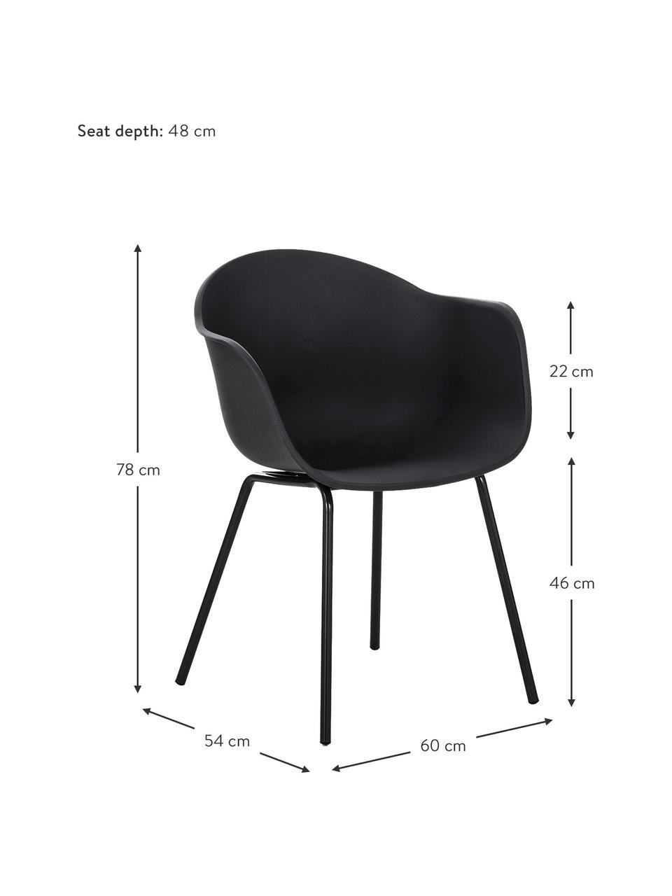 Fauteuil design Claire, Noir