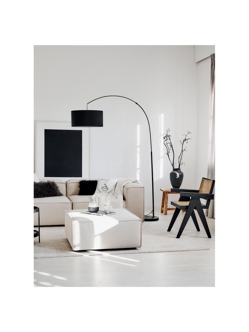 Lampadaire arc moderne Niels, Noir, mat