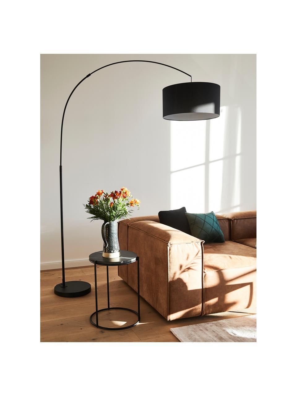 Velká oblouková stojací lampa Niels, Černá