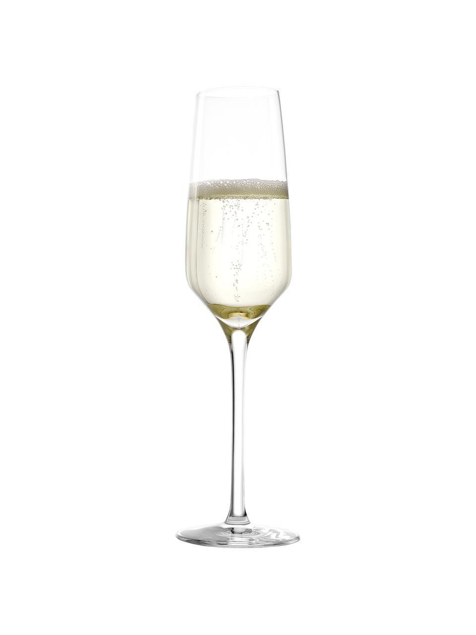 Kieliszek do szampana ze szkła kryształowego Experience, 6 szt., Szkło kryształowe, Transparentny, Ø 6 x W 22 cm