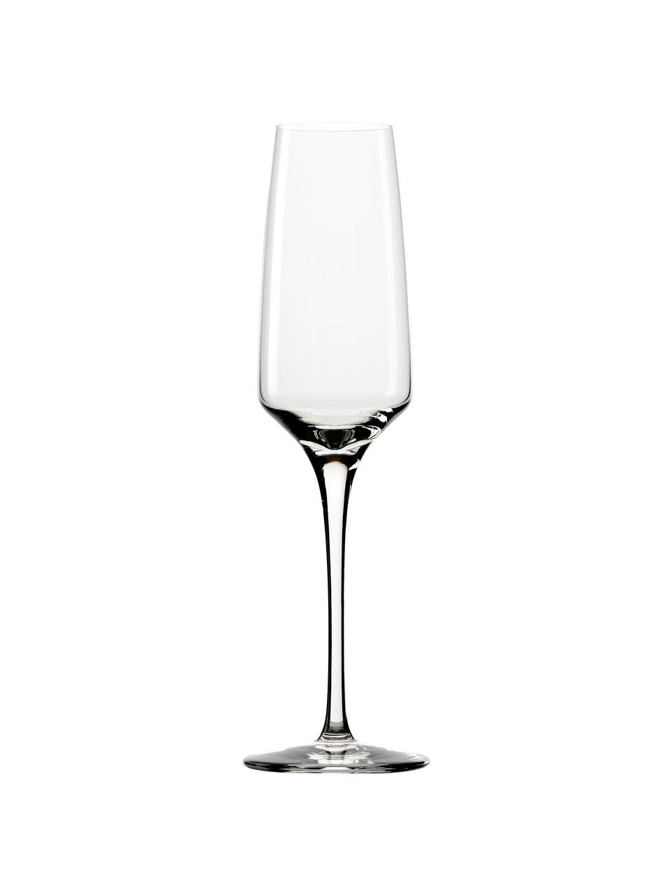 Křišťalová sklenice na sekt Experience, 6 ks, Transparentní