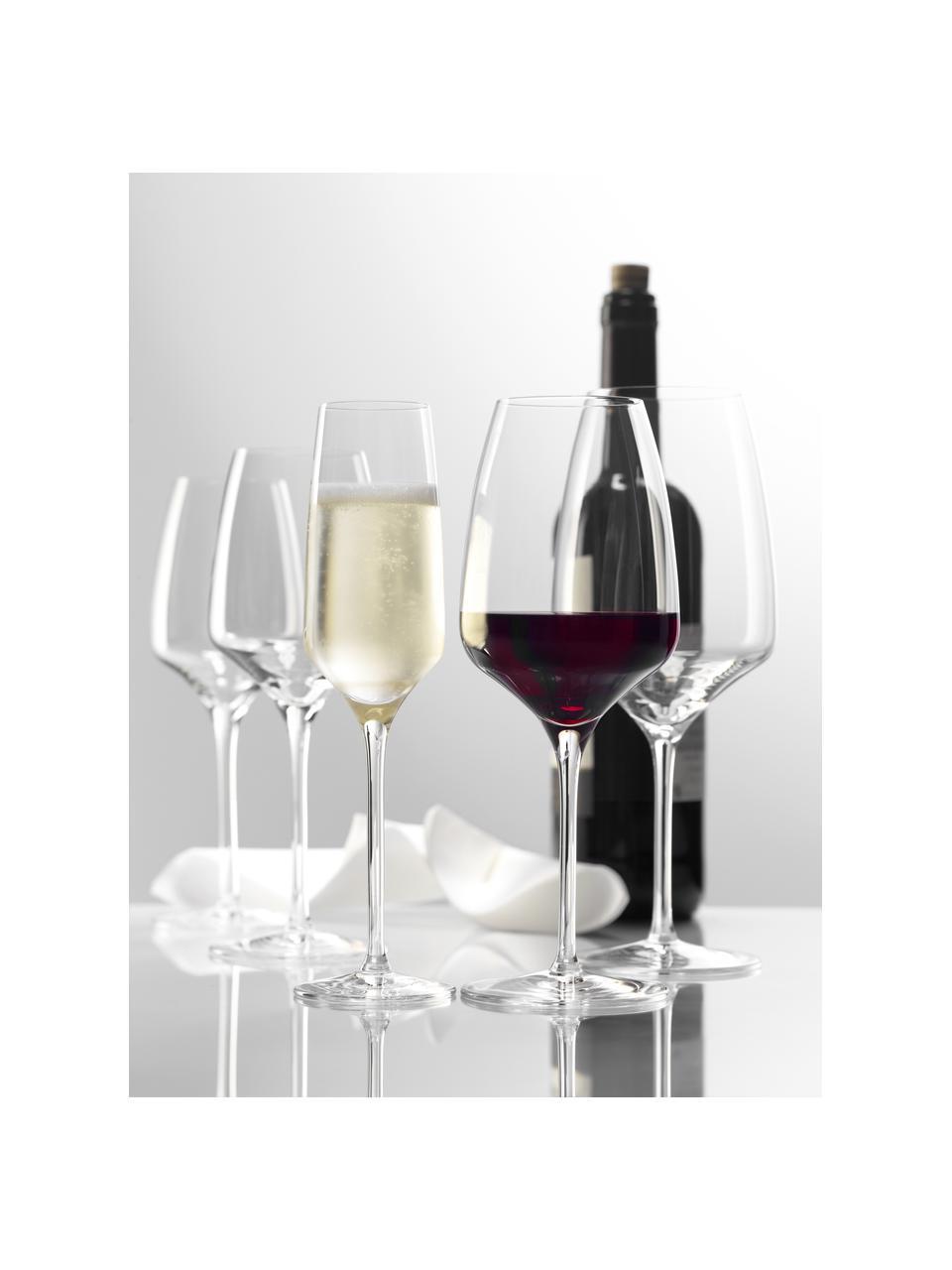 Flute champagne in cristallo Experience 6 pz, Cristallo, Trasparente, Ø 6 x Alt. 22 cm