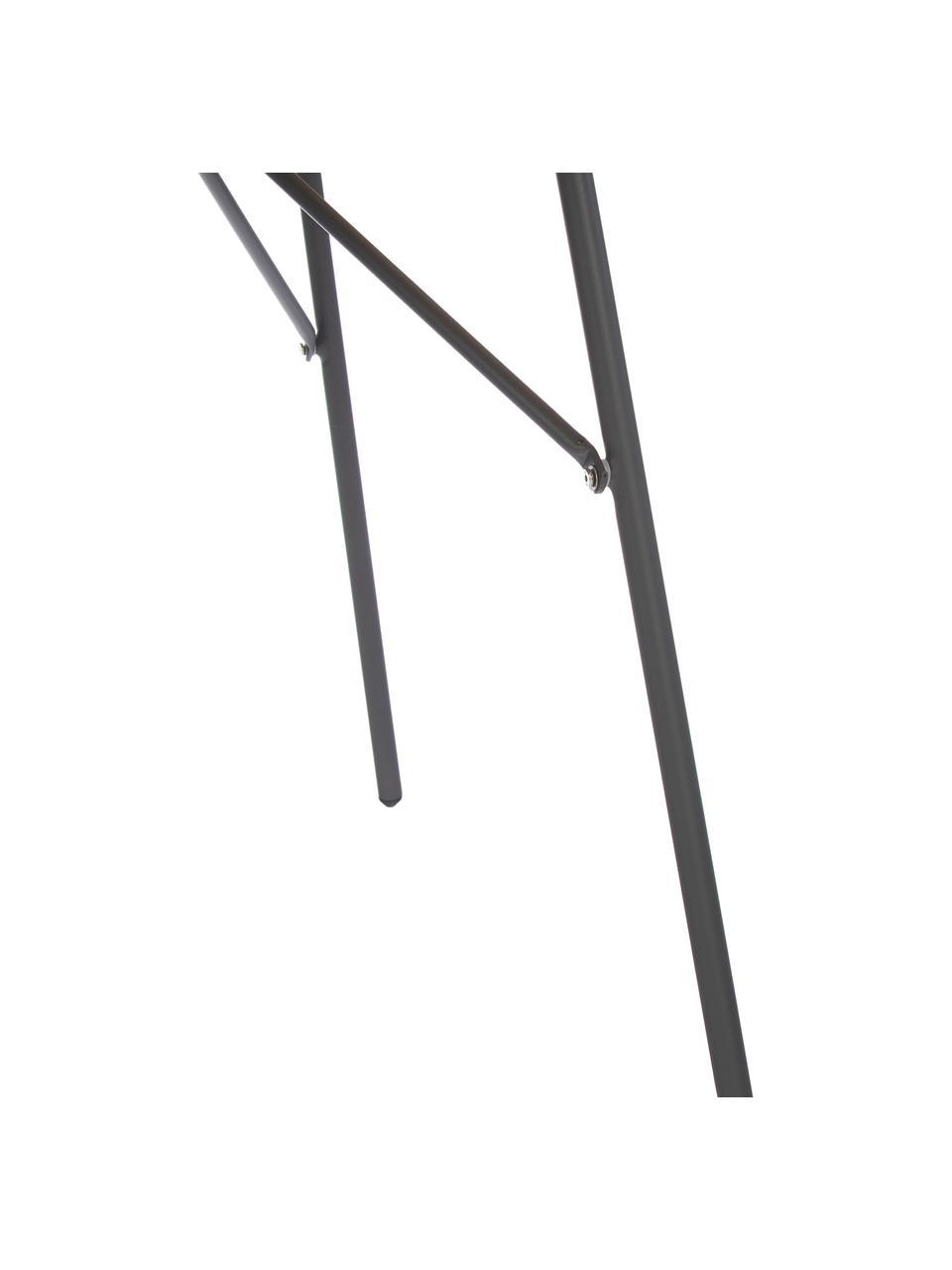Ronde tuintafel Hard & Ellen van hout, Tafelblad: gepolijst teakhout, Frame: gepoedercoat aluminium, Antraciet, teakhoutkleurig, Ø 110 x H 73 cm