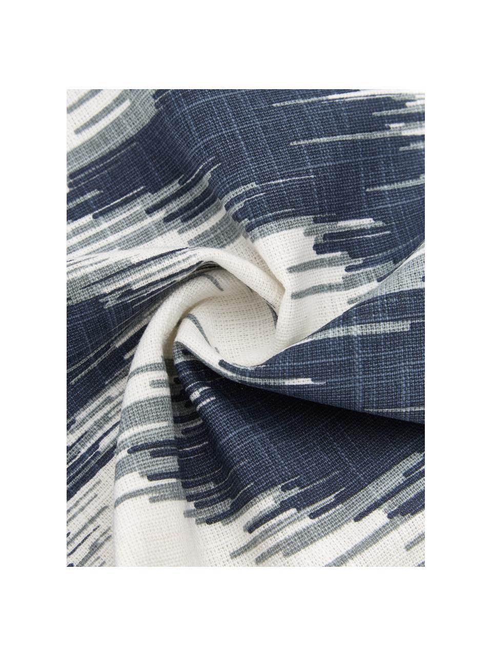 Housse de coussin coton pur bleu foncé Hasan, 2élém., Bleu