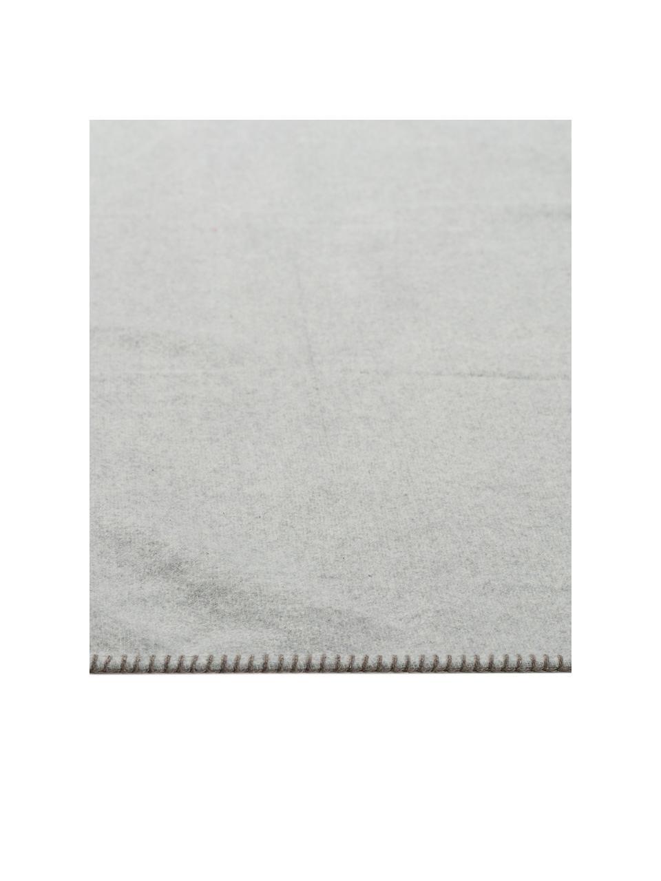 Puszysty koc Sylt Hirsch, 85% bawełna, 8% wiskoza, 7% poliakryl, Beżowy, S 140 x D 200 cm