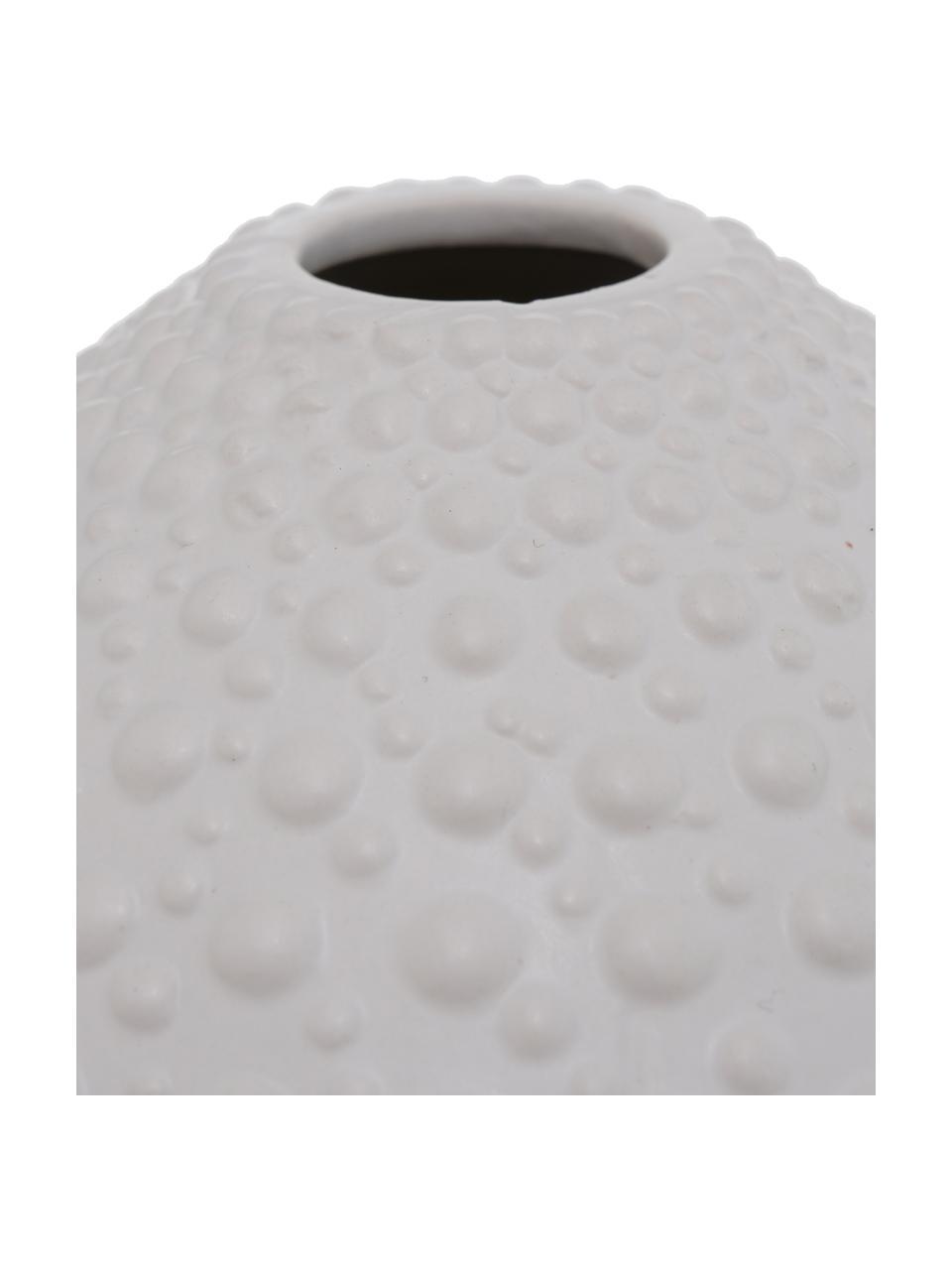 Ręcznie wykonany wazon  z kamionki Bensko, Kamionka, Biały, Ø 17 x W 15 cm