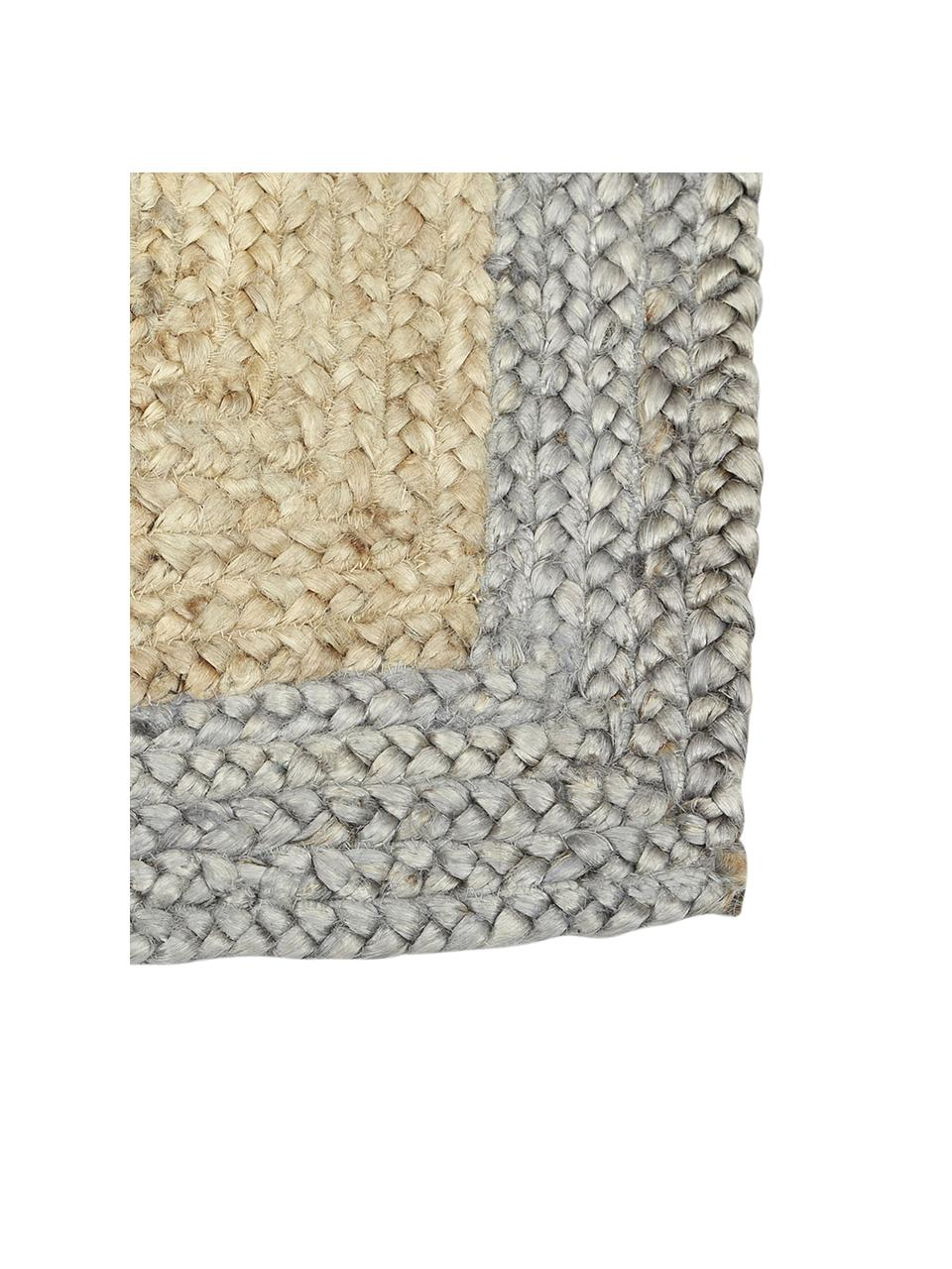 Ręcznie wykonany dywan z juty  Shanta, 100% juta, Beżowy, szary, S 160 x D 230 cm (Rozmiar M)