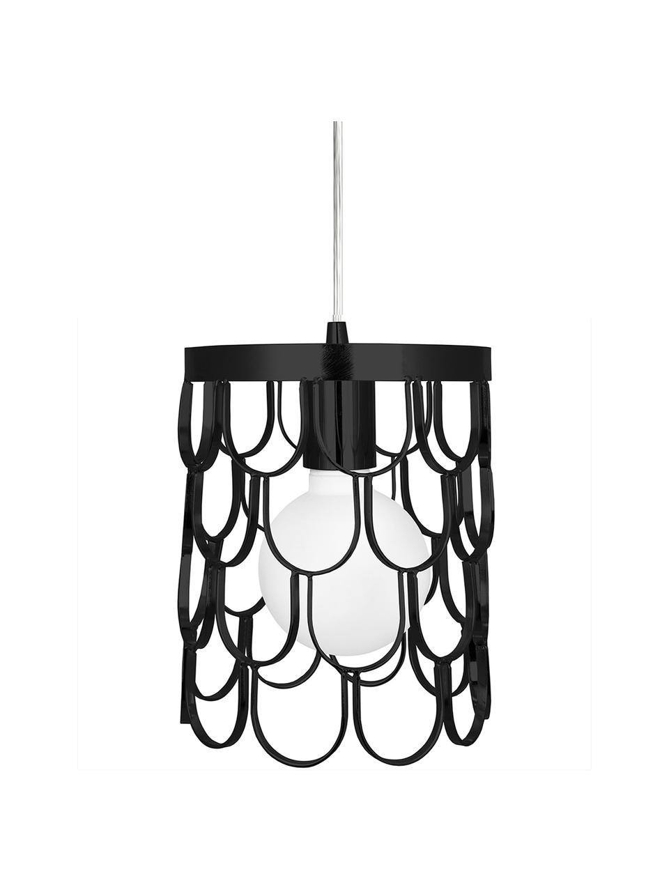 Mała lampa wisząca Gatsby, Czarny, Ø 18 x W 22 cm
