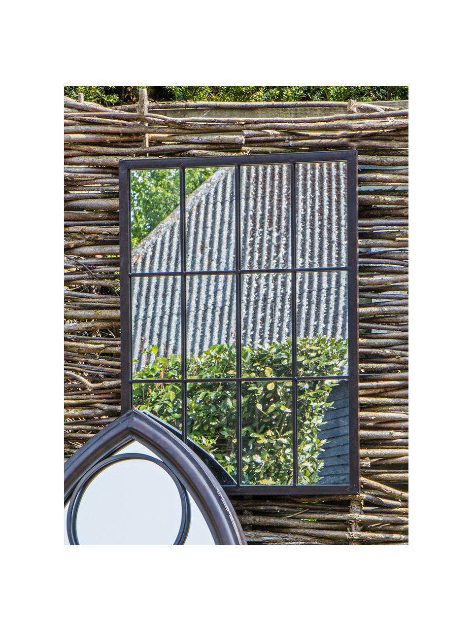 Lustro ścienne z metalową ramą Zanetti, Czarny, S 50 x W 70 cm