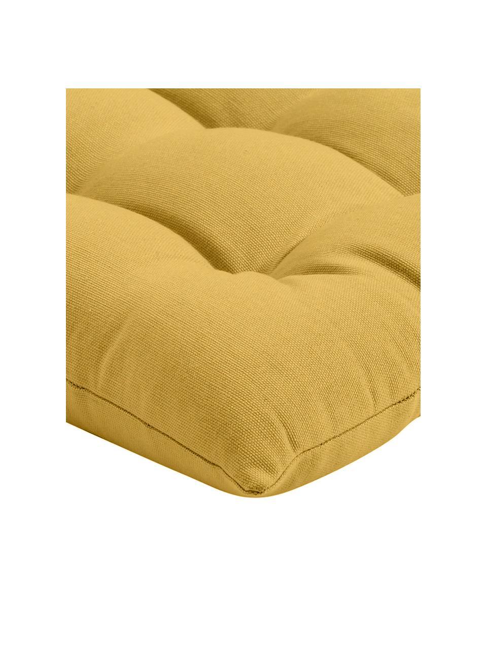 Cuscino sedia giallo Ava, Rivestimento: 100% cotone, Giallo, Larg. 40 x Lung. 40 cm