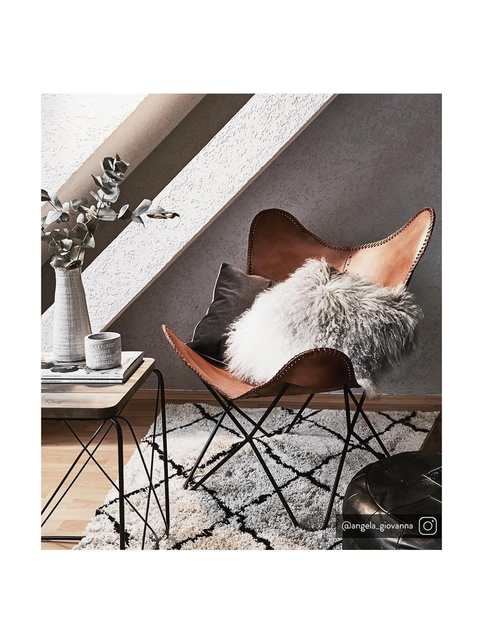 Fotel ze skóry Brady, Brązowy, S 67 x G 73 cm