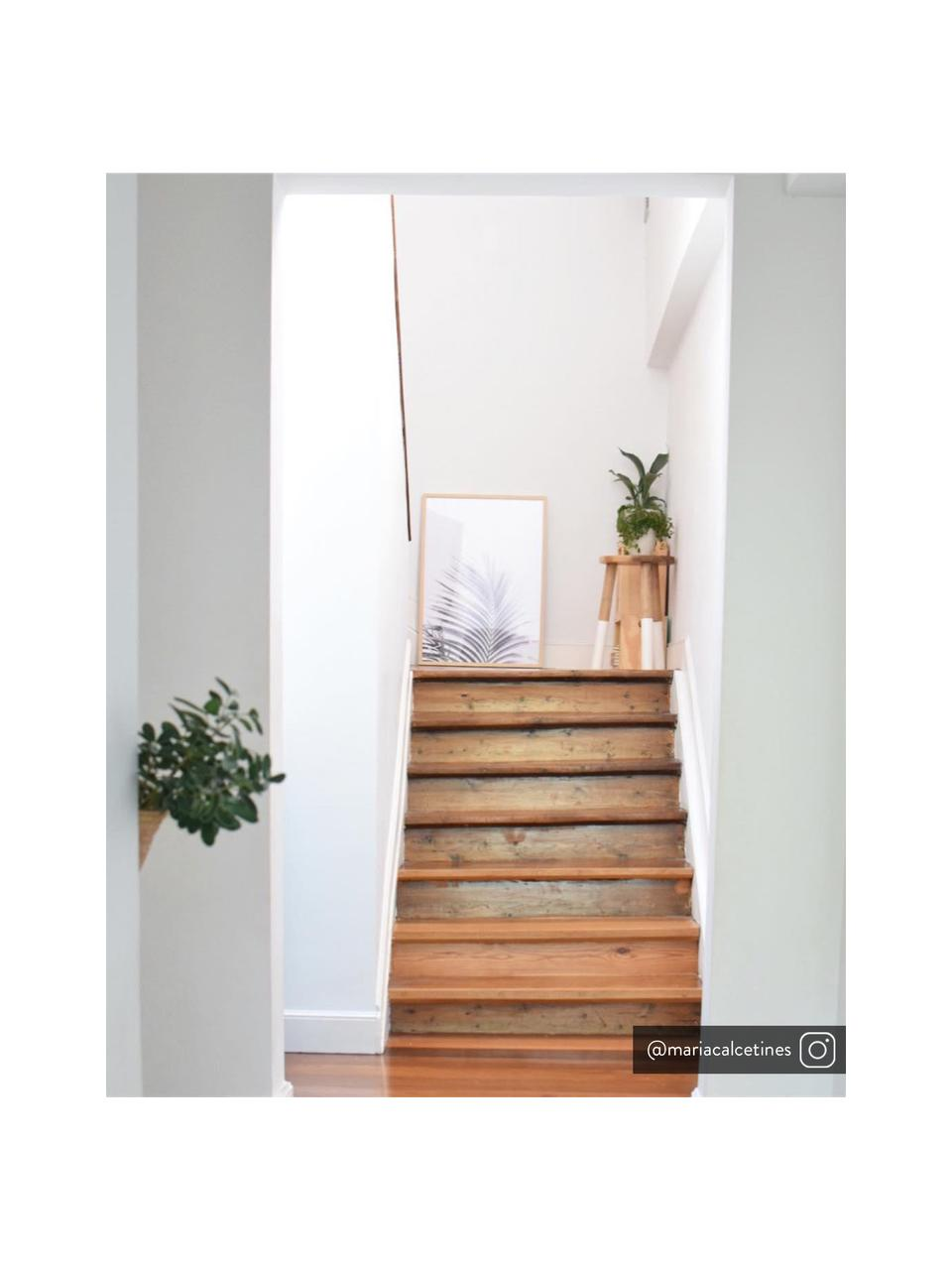 Sgabello scandi in legno Brocsy, Legno Mungur, bianco, Legno Mungur, bianco, Larg. 30 x Alt. 44 cm