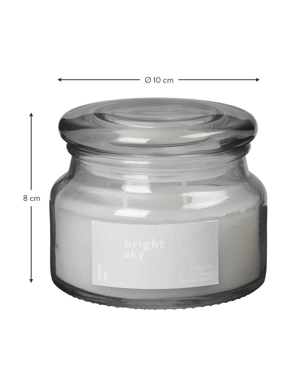 Geurkaars Bright Sky (bloemengeur), Houder: glas, Grijs, Ø 10 cm