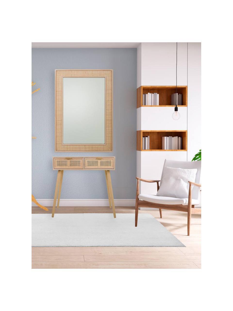 Konsola z drewna Cayetana, Korpus: płyta pilśniowa średniej , Nogi: drewno bambusowe, lakiero, Brązowy, S 80 x W 79 cm