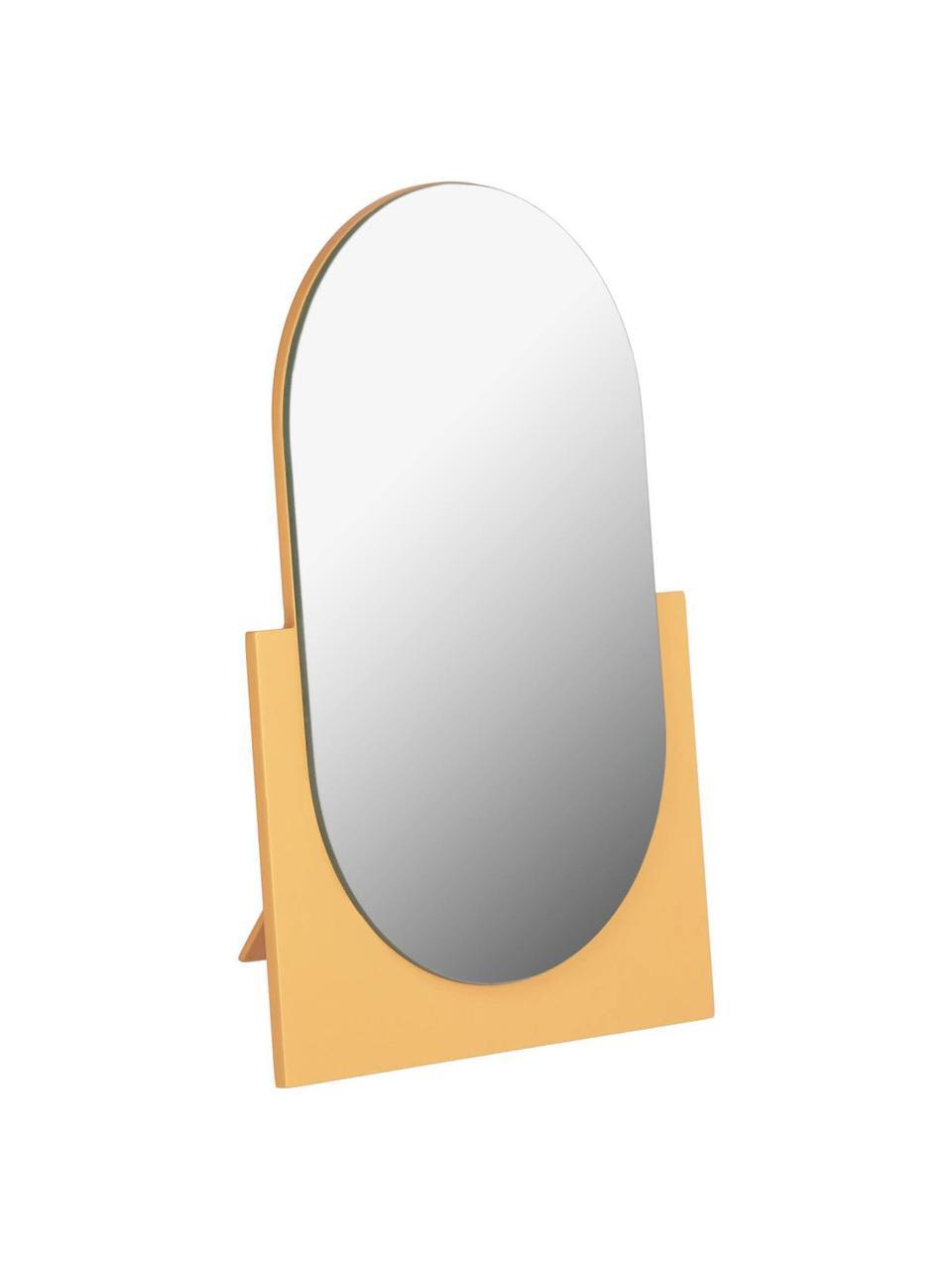 Lusterko kosmetyczne Mica, Żółty, S 17 x W 25 cm