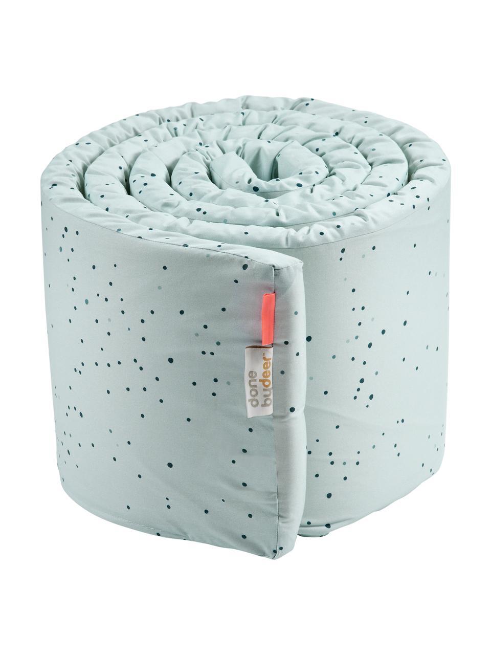 Ochraniacz do łóżeczka Dreamy Dots, Tapicerka: 100% bawełna, certyfikat , Niebieski, S 30 x D 350 cm