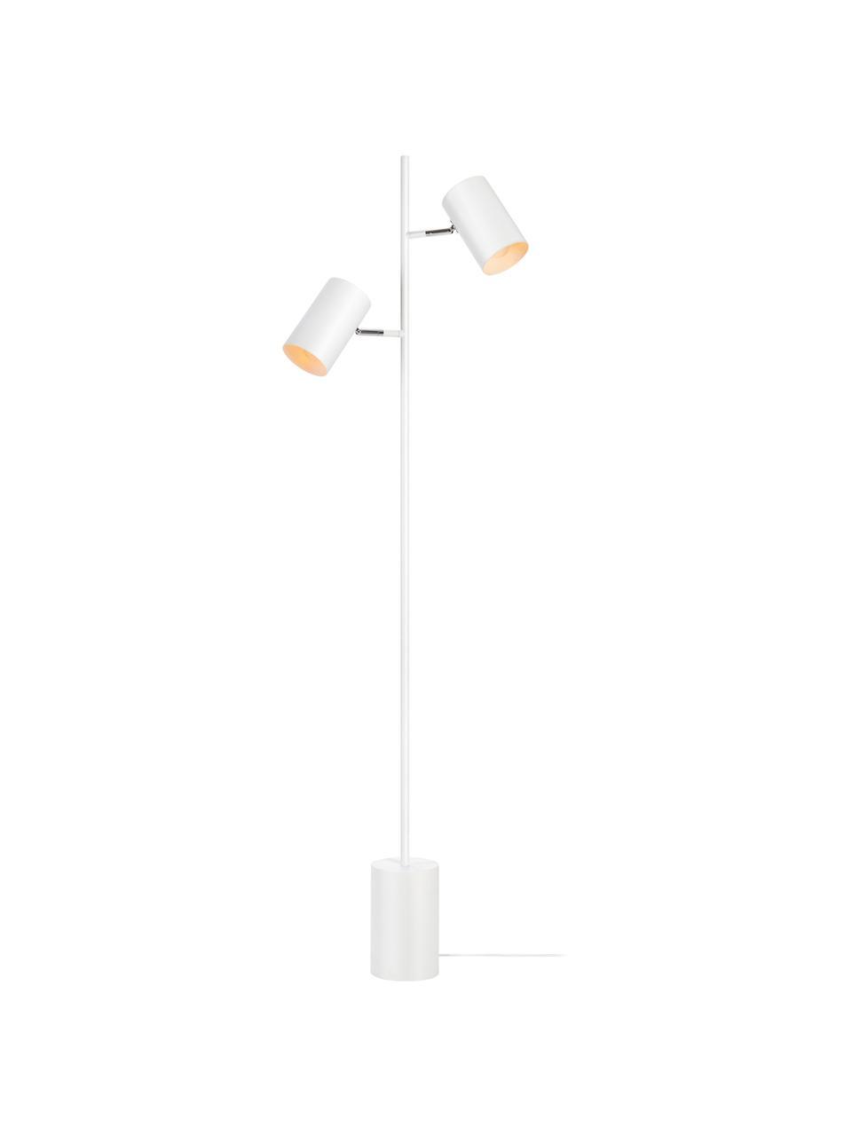 Lampa na čtení se 2 nastavitelnými stínidly Twin, Bílá