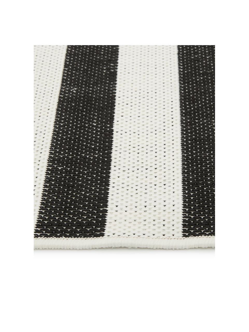 Dywan wewnętrzny/zewnętrzny Axa, 86% polipropylen, 14% poliester, Kremowobiały, czarny, S 200 x D 290 cm (Rozmiar L)