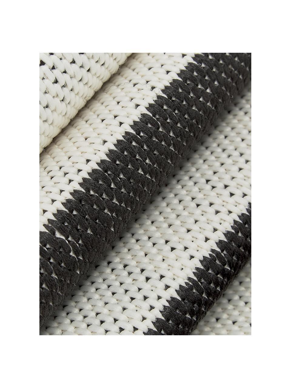 Tappeto a righe color nero/bianco da interno-esterno Axa, 86% polipropilene, 14% poliestere, Bianco crema, nero, Larg. 200 x Lung. 290 cm (taglia L)
